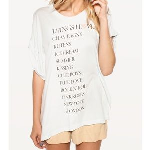 Wildfox Things I Love short sleeve oversized shirt